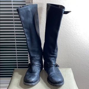Dirk Bikkembergs pull on high leather boots sz 40